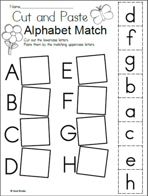 alphabet matching interactive worksheet