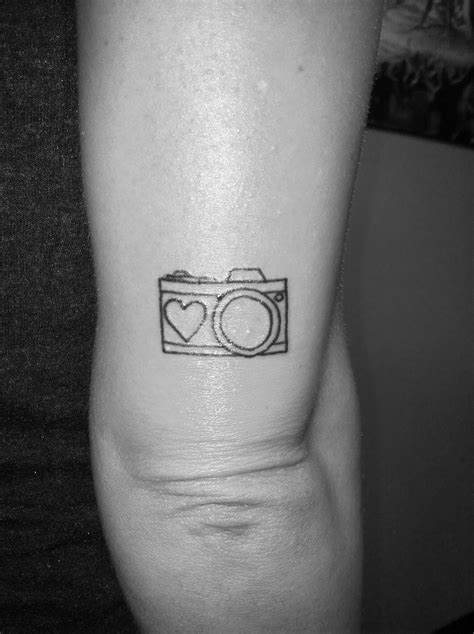 Small camera tattoo above my elbow. | Ink | Pinterest | Camera tattoos, Small camera and Cameras