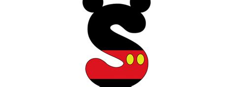 letter from mickey mouse template mickey mouse style letter s cut out large