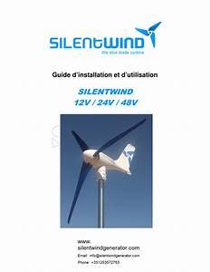 Silentwind 12v    24v    48v Guide D U2019installation Et D