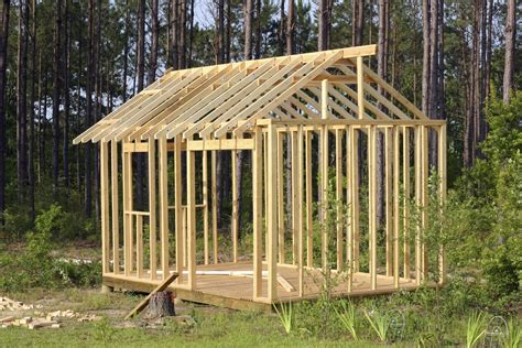plans to build a shed building a shed foundation