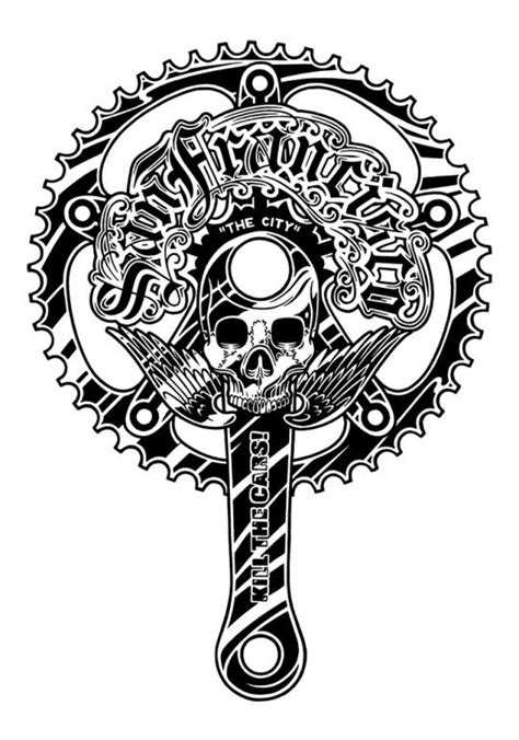 Pin by Alan Lacerte on drawing | Cycling tattoo, Bicycle artwork, Bicycle tattoo