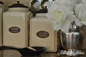 kitchen decorative canisters how to decorate above kitchen cabinets tidbits twine