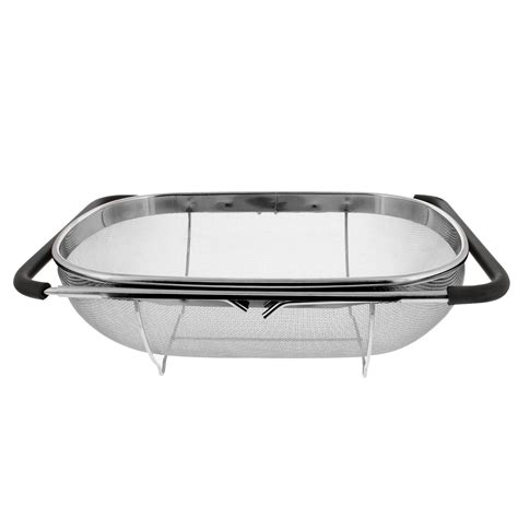 over the sink strainer over the sink stainless steel oval colander with fine mesh