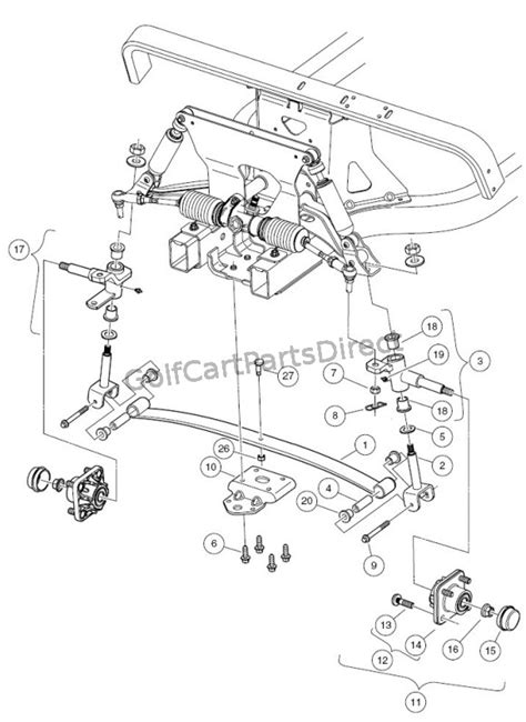 front suspension  golfcartpartsdirect