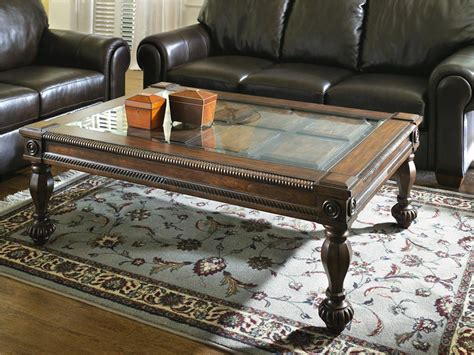 Signature Design By Ashley Mantera Glass Top Coffee Table