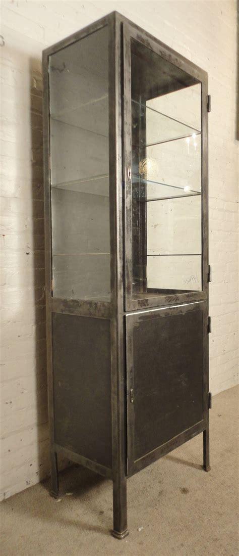 Steel Display Cabinet by Industrial Metal Display Cabinet At 1stdibs