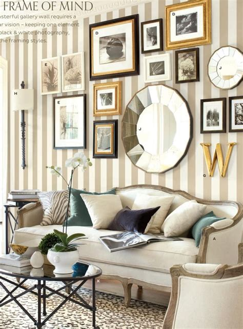 Living Room Decor Photo Gallery by Black And Gold Frames Mixed Frame Styles Decorating