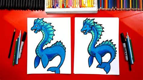 draw  sea serpent art  kids hub