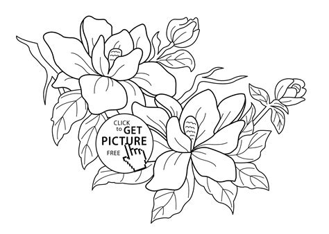 Flowering Tree Coloring Pages For Kids, Printable Free