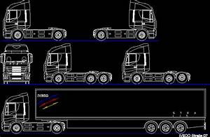 Truck Tractors And Semi DWG Block for AutoCAD • Designs CAD