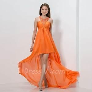 Orange prom dresses 2016
