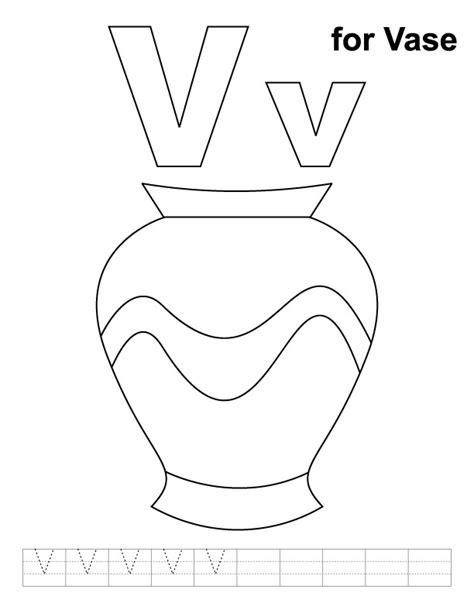 vase coloring page  handwriting practice