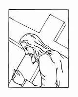 Cross Coloring Jesus Wings Pages Carrying Easter Printable American Printables Getcolorings Beau Stations Getcoloringpages Kleurplaat Popular sketch template