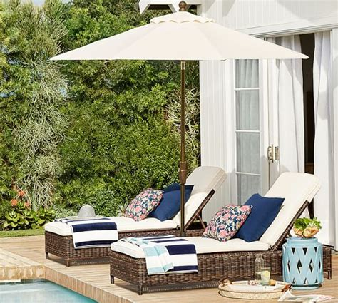 Pottery Barn Chaise Lounge by Outdoor Chaise Lounges Patio Chaise Lounges Pottery Barn