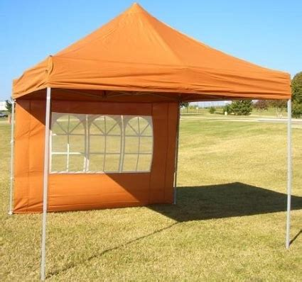 brunt orange    pop  canopy tent