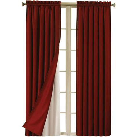 Walmart Eclipse Thermal Curtains by Eclipse Blackout Thermaliner Curtain Panels Set Of 2