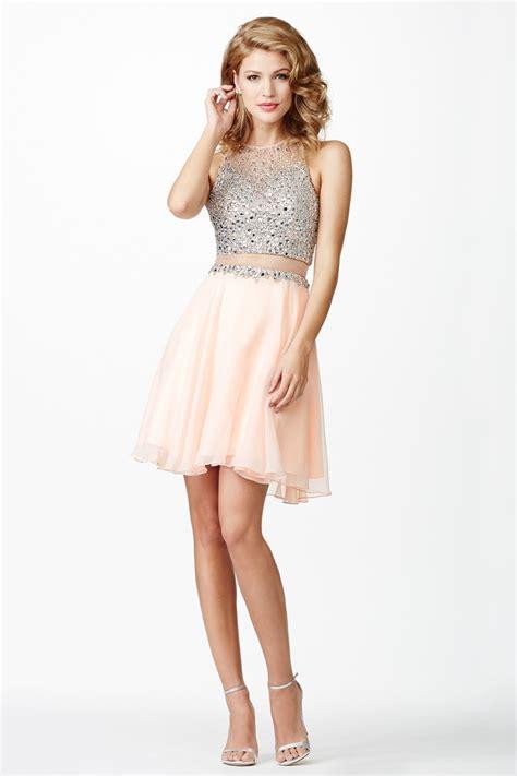 Jovani JVN27600 Pink Chiffon Short Dress