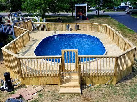 wood composite  ground pool decks  buffalo ny