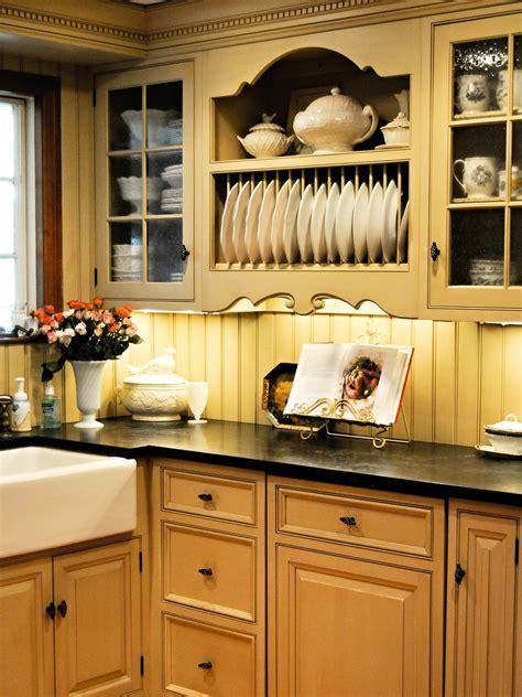 country style kitchen cabinetry  beadboard backsplash hgtv