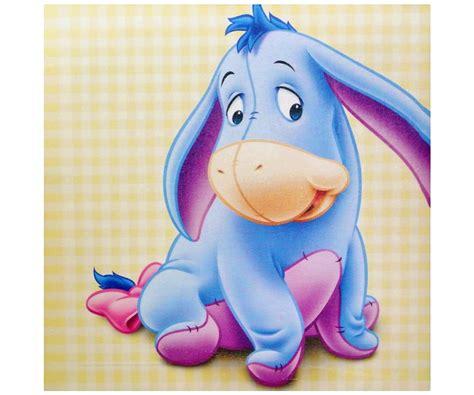 stickers pas cher chambre bébé tableau toile disney winnie l 39 ourson bourriquet bébé 25x25cm