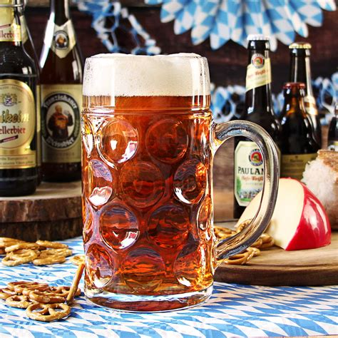 german beer stein glass ce lined   pints ltr