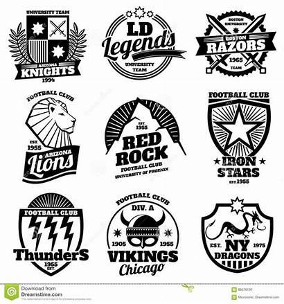 Logos Teams Nba Athletische Vektorsatz Colleges Aufkleber