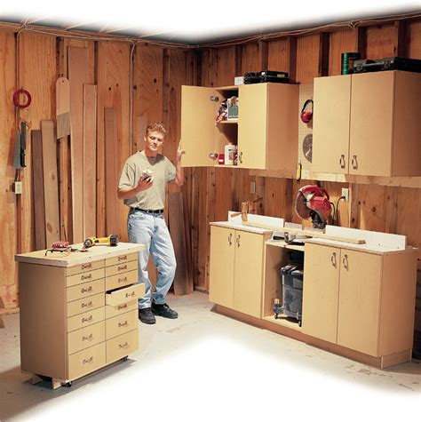 simple  purpose shop cabinets popular woodworking magazine