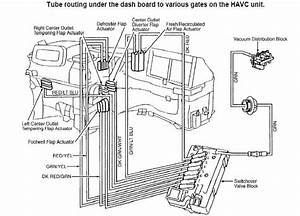 C280 1994 Vacuum Troubleshooting  Vents And Rear Headrests