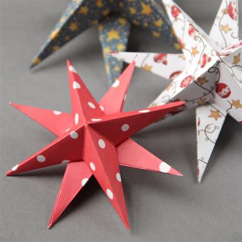 paper stars christmas decorations diy 3d paper decorations gathering