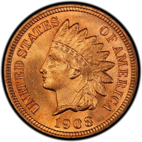 indian pennies 1908 indian head pennies values and prices past sales coinvalues com