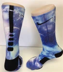Purple Galaxy Nike Elite Socks Custom