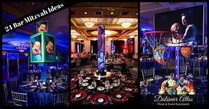 24 Awesome Bar Mitzvah Theme Ideas - Dalsimer Atlas Floral