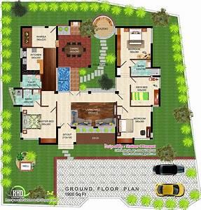 Eco, Friendly, Single, Floor, Kerala, Villa