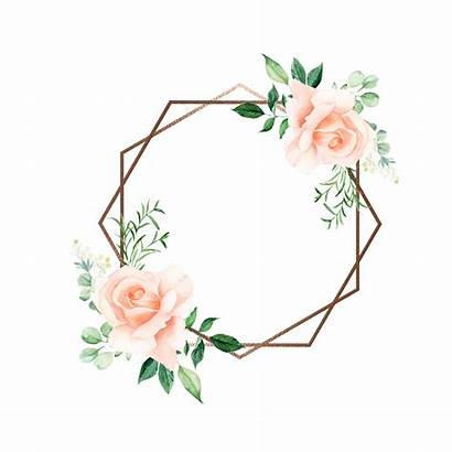 Watercolor Flower Rustic Frame Clipart Border Flowers