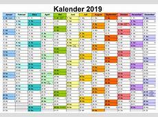 Download Kalender 2019 Zum Ausdrucken Mit Feiertagen