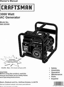 Craftsman 580323300 User Manual Generator Manuals And