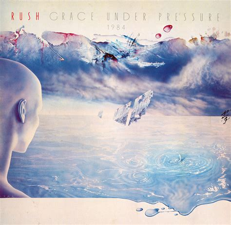 Grace Under Pressure Album Cover by Rush Grace Under Pressure Tour Book Artwork And Photographs
