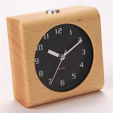 design alarm clock lemnos design alarm clock block carved from a solid