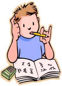 Cartoon Person Doing Their Homework