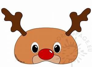 Reindeer Mask Rudolph  U2013 Coloring Page