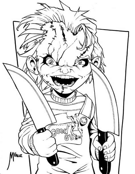 chucky | Cartoon coloring pages, Chucky drawing, Dog drawing