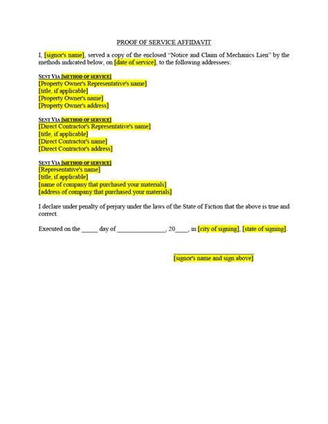 lien release letter filing release of lien forms mechanics liens