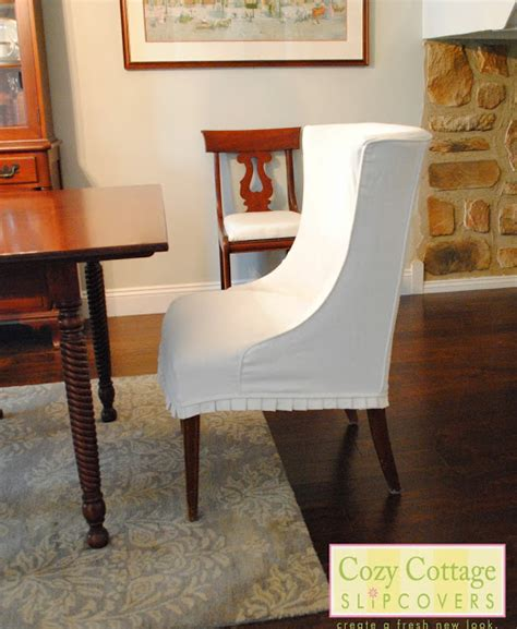 cozy cottage slipcovers white slipcovers in the dining room