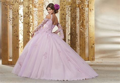 crystal beaded lace appliques   princess tulle ballgown