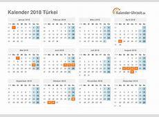 Feiertage 2018 Türkei Kalender & Übersicht