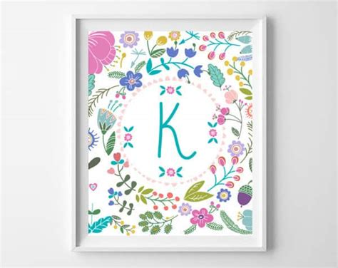 Letter G Home Decor : Printable Wall Art