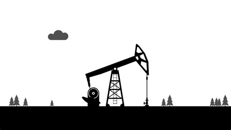 Pumpjack. Oil Pump. Animation With Alpha Channel