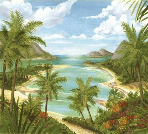 images  tropical wall murals  pinterest