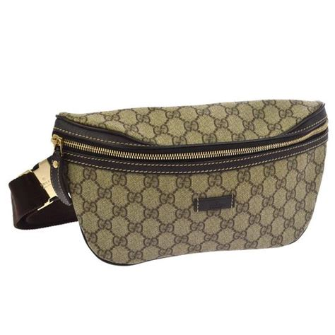 gucci webby bum bag monogram fanny pack waist brown canvas